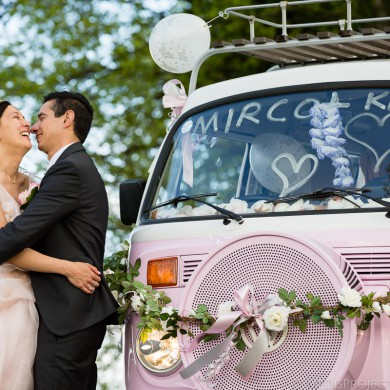 Wedding in a Volkswagen Van